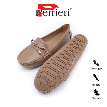 Perrieri Comfortable Ladies Loafers - Apricot/Camo 60726